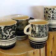 Mugs anse noir et blanc