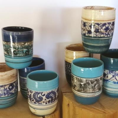 Mugs bleus
